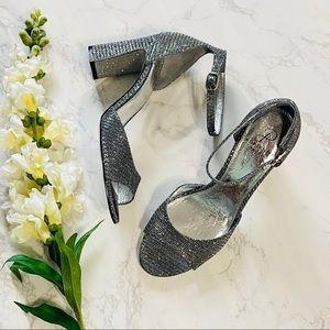 Adrianna Papell Aviana pewter glitter gray heels 9